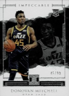 2017-18 PANINI IMPECCABLE RC Donovan Mitchell JSY NUMBER!【99枚限定】 / MINT渋谷店 H様