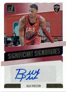 2018-19 PANINI DONRUSS Significant Signatures Billy Preston / MINT立川店 第八係様