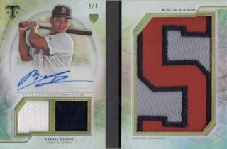 2018 TOPPS TRIPLE THREADS Letter Plus Autograph Relics Rafael Devers【3枚限定:Last NO!!】/ MINT千葉店 ソニック様