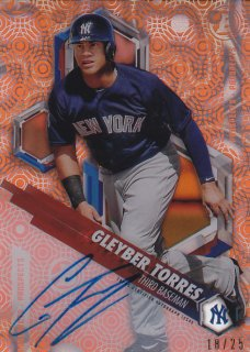 2018 Topps High Tek Autograph Orange Orbit Diffractor Gleyber Torres 【25枚限定】/MINT浦和店 ヨッシャー!!様