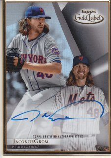 2018 Topps Gold Label Autograph Jacob deGrom/MINT浦和店 ヨッシャー!!様
