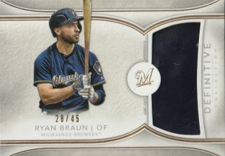 2018 TOPPS DEFINITIVE COLLECTION Definitive Helmet Collection Ryan Braun【45枚限定】/MINT新宿店 ヨッシャー!!様