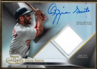 2018 Topps Gold Label Autograph Relic Ozzie Smith【25枚限定】MINT梅田店 ジョーダン様