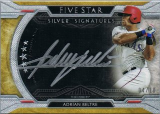 2018 Topps Five Star Silver Signatures Gold Adrian Beltre【10枚限定】/ミント池袋店 y@ma様