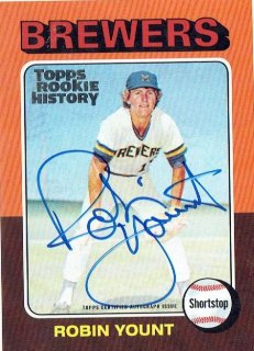 2018 TOPPS ARCHIVES Rookie History Autograph Card Robin Yount / MINT立川店 tony様