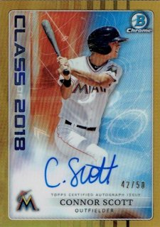 2018 TOPPS BOWMAN DRAFT Class of 2018 Autograph Gold Connor Scott 【50枚限定】 / MINT立川店 S.I様