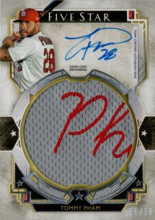 2018 Topps Five Star Autographed Jumbo Patch Tommy Pham 【10枚限定】MINT福岡店 月影勝護様