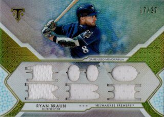 2018 Topps Triple Threads Relic Silver Ryan Braun【27枚限定】MINT福岡店 月影勝護様
