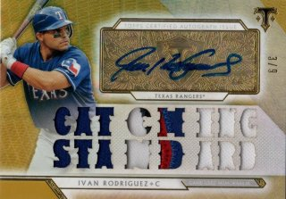 2018 Topps Triple Threads Autograph Relic Gold Ivan Rodriguez 【9枚限定】MINT福岡店 月影勝護様