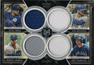 2018 Topps Museum Collection Quad Relics  Smoak /Stroman/Tulowitzki/Donaldson【99枚限定】MINT福岡店 月影勝護様