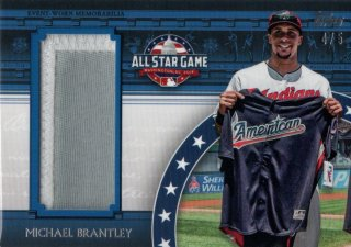 2018 Topps Update Series All-Star Jumbo Patch Michael Brantley 【5枚限定】MINT福岡店 月影勝護様