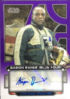 2018 Topps Star Wars Galactic Files Auto Purple Ariyon Bakare as Blue Four【25枚限定】 / MINT広島店 ロペス様[4月]
