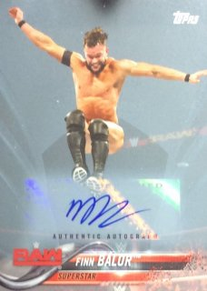 2018 Topps WWE Then Now Forever Wrestling Base Auto Blue finn balor【50枚限定】/MINT広島店 ロペス様[4月]