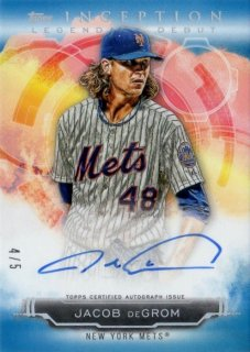 2019 TOPPS INCEPTION Legendary Debut Autographs Blue Jacob deGrom【5枚限定】/ MINT千葉店 ソニック様[4月]