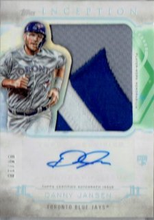 2019 TOPPS INCEPTION Autograph Jumbo Patch Blue Danny Jansen 【10枚限定】 / MINT立川店 和田様[4月]