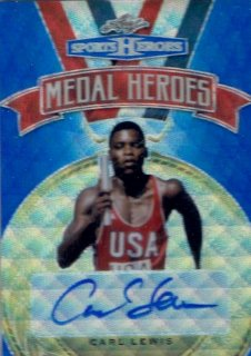 2018 LEAF METAL SPORTS HEROES Medal Heroes Autograph Blue Wave Carl Lewis【10枚限定】  / MINT立川店 ひじき様[4月]