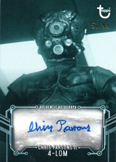 2019 Star Wars Black and White Autographs  Chris Parsons as 4-LOM 【99枚限定】 / MINT三宮店 スリザリン様[4月]