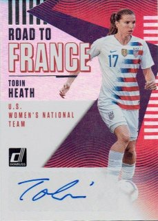 2018-19 PANINI DONRUSS SOCCER Road to France Autograph Card Tobin Heath / MINT立川店 かに道楽様[4月]