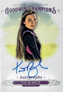 2018 UPPER DECK GOODWIN CHAMPIONS Autograph Card Tia Blanco / MINT立川店 麺屋翔様[4月]