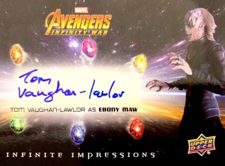 2018 UD AVENGERS INFINITY WAR Autographs Tom Vaughan-Lawlor / MINT新宿店 大泉積郎 [4月]