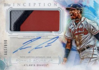 2019 TOPPS INCEPTION Patch Autographs Ronald Acuna Jr.【199枚限定】/ MINT千葉店 ソニック様[4月]