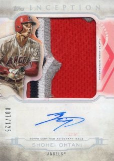 2019 TOPPS INCEPTION Jumbo Patch Autographs Shohei Ohtani【125枚限定】/ MINT千葉店 ソニック様[4月]