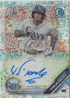 2019 TOPPS BOWMAN Chrome Autograph Card Speckle Wander Franco 【299枚限定】 / MINT池袋店 y@ma様[4月]