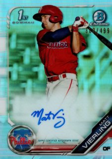 2019 TOPPS BOWMAN Chrome Autograph Card  Base Refractor Matt Vierling  【499枚限定】 / MINT池袋店 y@ma様[4月]
