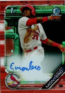 2019 TOPPS BOWMAN Chrome Autograph Card  Orange Elehuris Montero  【25枚限定】 / MINT池袋店 y@ma様[4月]