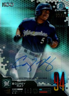 2019 TOPPS BOWMAN Chrome Scouts' Top 100 Auto Corey Ray 【50枚限定】 / MINT池袋店 y@ma様[4月]