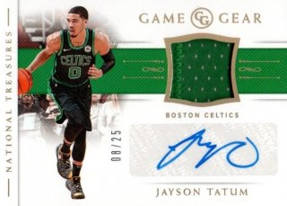 18-19 Panini National Treasures Game Gear Auto (Prime) Jayson Tatum【25枚限定】MINT梅田店 じょーだん様[5月]