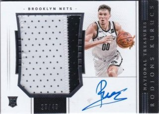 2018-19 National Treasures Rookie Patch Autographs Horizontal Rodions Kurucs【49枚限定】/MATCHUP V2様