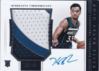 2018-19 National Treasures Rookie Patch Autographs Horizontal Keita Bates-Diop【49枚限定】/MATCHUP OG様
