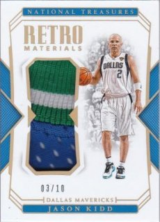 2018-19 Panini National Treasures Retro Materials Prime Jason Kidd【10枚限定】/MATCHUP HYU様
