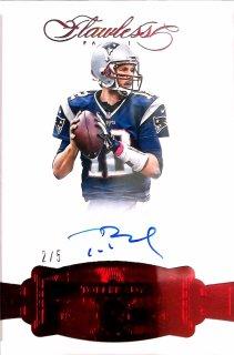 2018 Panini Flawless 2016 Signatures Ruby Tom Brady【5枚限定】ミント札幌店 よし様