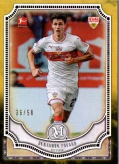 2018-19 Topps Museum Collection Bundesliga Base Gold Benjamin Pavard 50枚限定/MINT三宮店 スリザリン様【6月】
