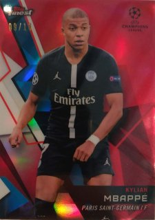 2018-19 Topps Finest UEFA Champions League Red Parallel Base Kylian Mbappe 10枚限定/MINT池袋店 OH様【6月】