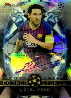 2018-19 Topps Finest UEFA Champions League Orange Parallel Auto  Messi 25枚限定/MINT池袋店 ゴローニャ様【6月】