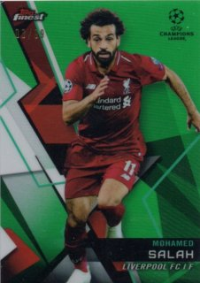 2018-19 Topps Finest UEFA Champions League Green Parallels Base M.Salah 99枚限定/MINT池袋店 あんと様【6月】