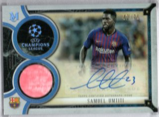 18-19 Topps Museum Collection UEFA Champions League Auto Relics S.Umtiti 75枚限定/MINT池袋店 y@m@様【6月】