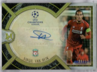18-19 Topps Museum Collection UEFA Champions League Auto Van Dijk 50枚限定/MINT池袋店 あんと様【6月】