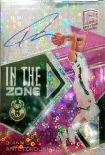 2018-19 Panini Spectra In The Zone Autographs Neon Pink Giannis Antetokounmpo【25枚限定】ミント札幌店 カビー様[6月]