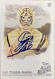 2019 Topps Allen & Ginter Non-Baseball Full-Size Autograph Tiger Mask / MINT池袋店 y@ma様[7月]