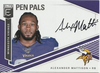 2019 PANINI Donruss Elite Football Pen Pals Autographs Alexander Mattison  / MINT新宿店 翼をさずける様[7月]