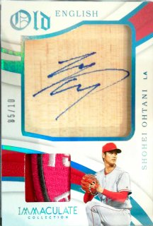 2019 Panini Immaculate Old English Autograph Relics Blue Shohei Ohtani【10枚限定】ミント札幌店 N様[7月]
