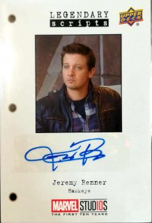 2019 UpperDeck First Ten Years Trading Jeremy Renner ミント札幌店 だーく様[8月]