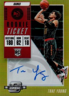 2018-19 PANINI Contenders Optic Rookie Ticket Auto Gold TRAE YOUNG【10枚限定】 / MINT横浜店 8moto007様 [8月]