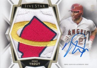 2019 Topps Five Star Autographed Jumbo Patch Mike Trout 【1of1】/ MINT池袋店 ハリー・キャラハン様 [8月]