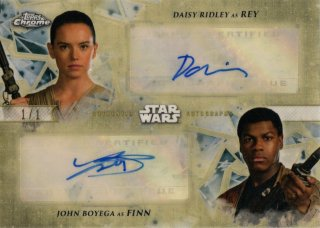 2019 TOPPS Star Wars Chrome Autographs Rey&Finn【1of1】 MINT神田店 アベッス様[9月]
