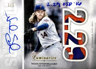 2019 TOPPS Luminaries Autograph Patches Noah Syndergaard 【1of1】 / MINT浦和店 日曜日は浦和店様[9月]